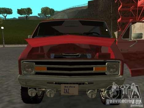 Dodge Tradesman 7z для GTA San Andreas вид сзади слева