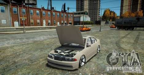 BMW 530i E39 для GTA 4 вид сзади