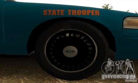 Ford Crown Victoria Georgia Police для GTA San Andreas вид сзади слева