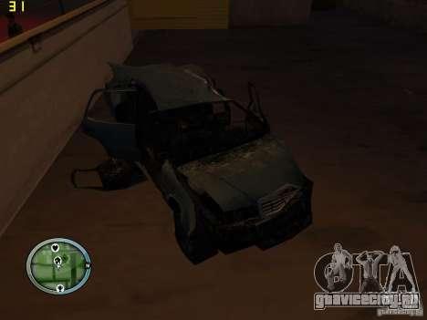 Разбитые тачки на Грув Стрит для GTA San Andreas девятый скриншот