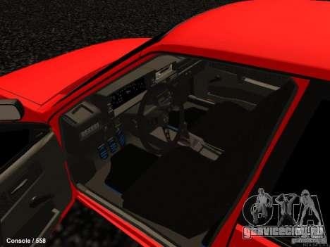 ВАЗ 2109 Turbo для GTA San Andreas вид изнутри