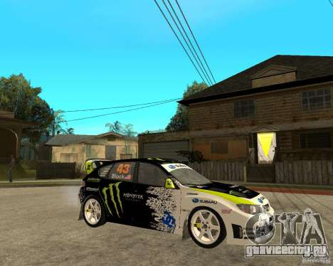 Ken Block Subaru Impreza WRX STi 2009 для GTA San Andreas вид справа