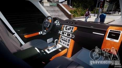 Range Rover Supercharged 2009 v2.0 для GTA 4 вид сверху