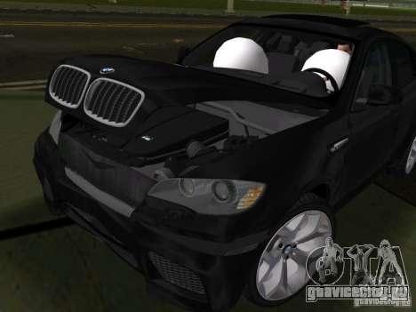 BMW X6M для GTA Vice City вид изнутри