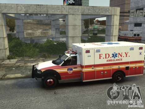 Ford F-350 Ambulance FDNY для GTA 4 вид слева