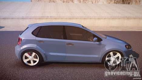 Volkswagen Polo 2011 для GTA 4 вид сбоку
