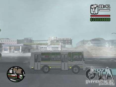 ПАЗ-32054 для GTA San Andreas вид справа