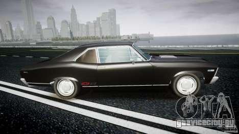 Chevrolet Nova 1969 для GTA 4 вид изнутри