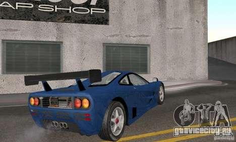 Mclaren F1 GTR (v1.0.0) для GTA San Andreas вид справа