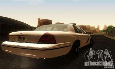 Ford Crown Victoria Washington Police для GTA San Andreas вид слева