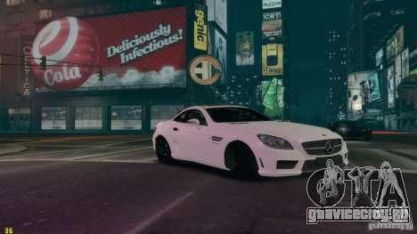Mercedes-Benz SLK55 R172 AMG 2011 v1.0 для GTA 4 вид справа