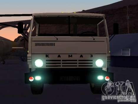КАМАЗ 53212 бортовой для GTA San Andreas вид изнутри