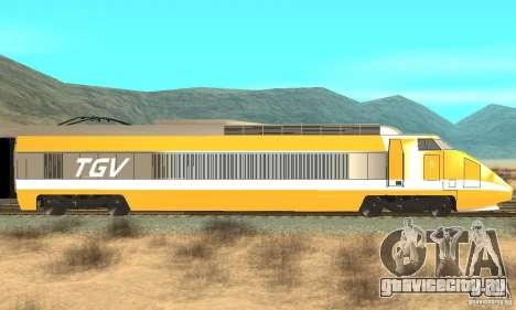 TGV SOUTH WEST для GTA San Andreas вид сзади слева