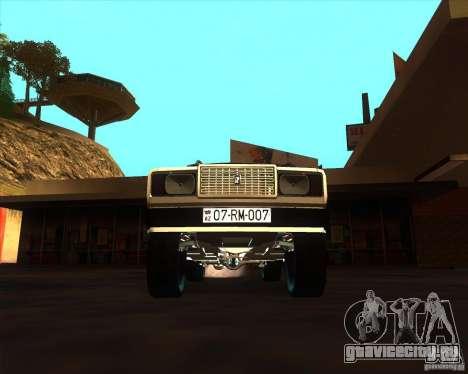 VAZ 2107 Azeri Style для GTA San Andreas вид изнутри