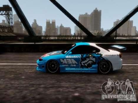 Nissm Silvia S15 Blue Tiger для GTA 4 вид сзади слева