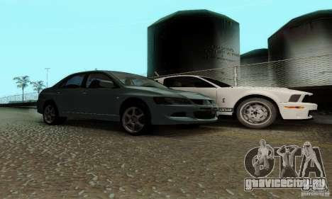 Mitsubishi Lancer Evolution 8 Tuneable для GTA San Andreas вид справа