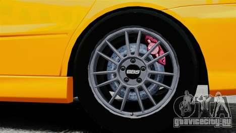 Mitsubishi Lancer Evolution IX MR для GTA 4 вид сзади