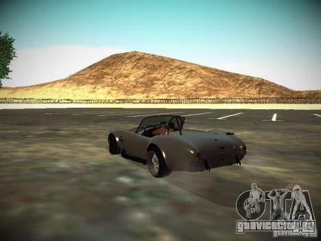 Shelby Cobra для GTA San Andreas вид сзади слева