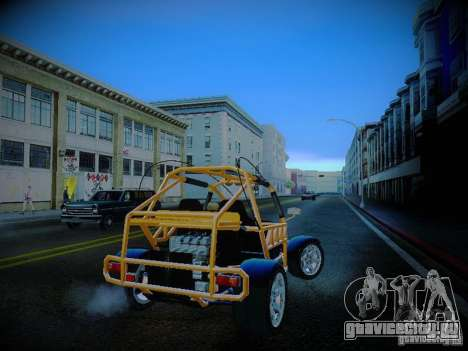 Buggy From Crash Rime 2 для GTA San Andreas вид справа