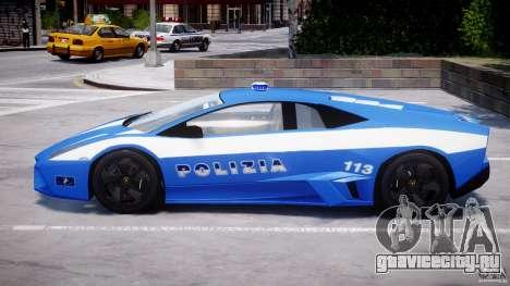Lamborghini Reventon Polizia Italiana для GTA 4 вид снизу