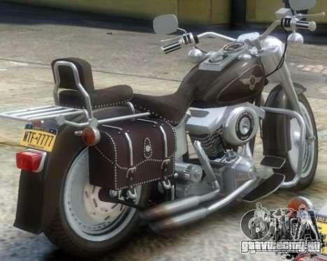 Harley Davidson FLSTF Fat Boy для GTA 4 вид сзади слева