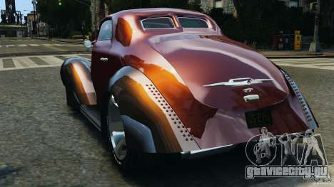 Walter Street Rod Custom Coupe для GTA 4 вид сзади слева