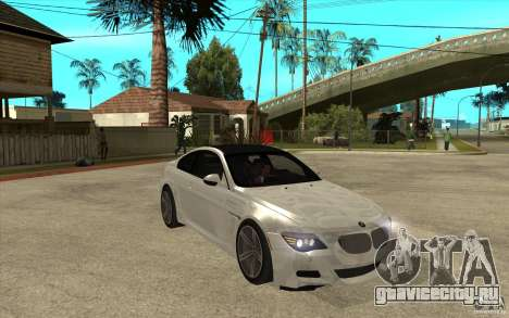 BMW M6 Coupe V 2010 для GTA San Andreas вид сзади