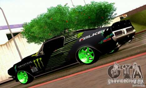 Shelby GT500 Monster Drift для GTA San Andreas вид изнутри