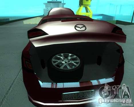 Mazda 6 2010 для GTA San Andreas вид сзади