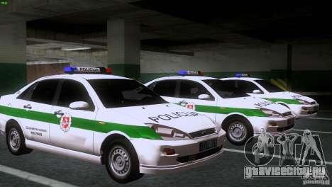 Ford Focus Policija для GTA San Andreas вид сзади
