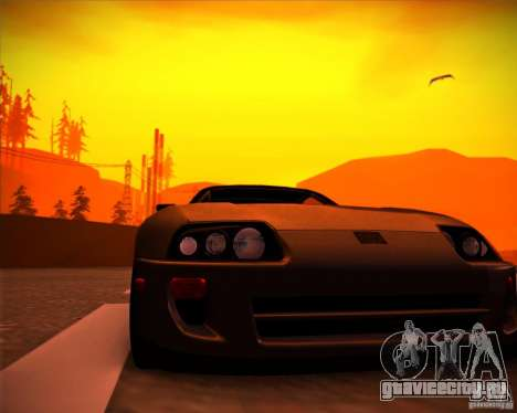Toyota Supra SHE для GTA San Andreas вид справа