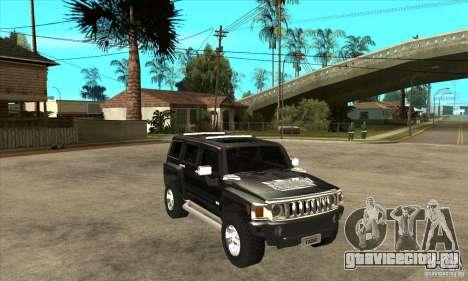 Hummer H3 для GTA San Andreas вид сзади