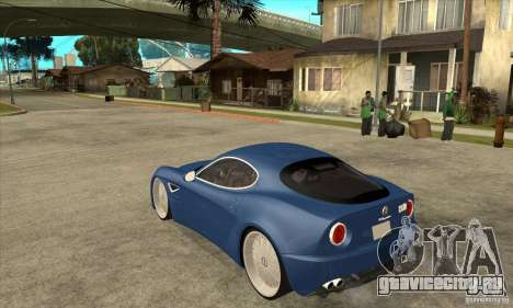 Alfa Romeo 8C Competizione для GTA San Andreas вид сзади слева