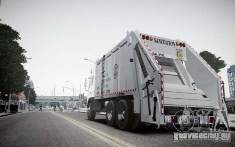 Dongfeng Denon Garbage Truck для GTA 4 вид сзади слева