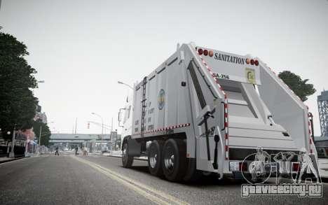 Dongfeng Denon Garbage Truck для GTA 4 вид сзади слева