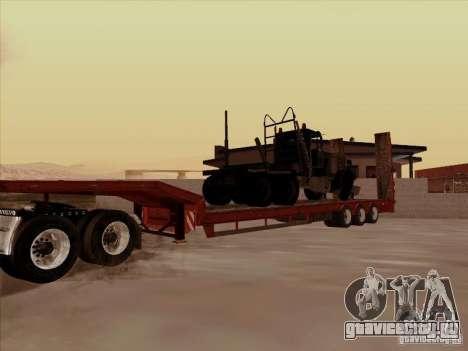 Прицеп к Volvo VNL 670 для GTA San Andreas вид сзади