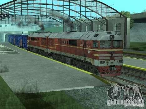 2ТЭ121-023 для GTA San Andreas вид справа