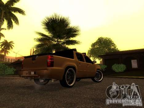 Chevrolet Avalanche Tuning для GTA San Andreas вид сзади слева