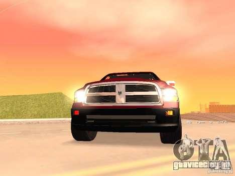Dodge Ram 2010 для GTA San Andreas вид сзади