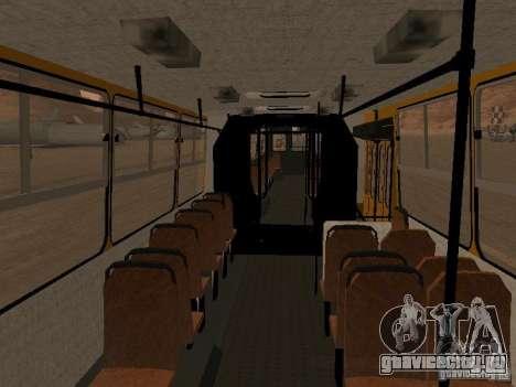 Икарус 280.33 для GTA San Andreas вид изнутри