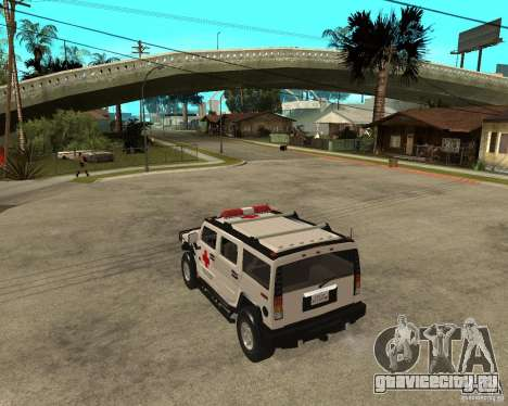 AMG H2 HUMMER - RED CROSS (ambulance) для GTA San Andreas вид слева