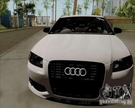 Audi S3 V.I.P для GTA San Andreas вид сзади слева