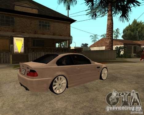 BMW M3 CSL E46 G-Power для GTA San Andreas вид сзади слева
