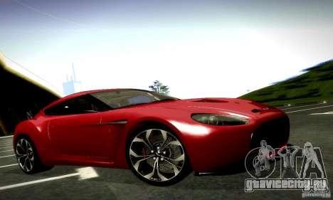Aston Martin V12 Zagato Final для GTA San Andreas вид снизу