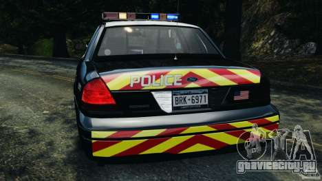 Ford Crown Victoria Police Interceptor 2003 LCPD для GTA 4 вид сверху
