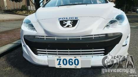 Peugeot 308 GTi 2011 Police v1.1 для GTA 4 двигатель