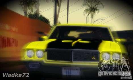Buick GSX 1970 v1.0 для GTA San Andreas вид сзади слева
