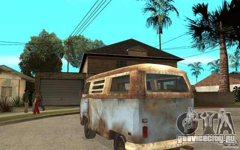 Dharma-Van (VW Typ 2 T2a) для GTA San Andreas вид сзади слева