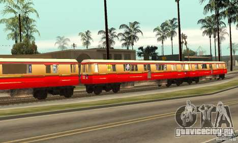 Liberty City Train DB для GTA San Andreas вид слева