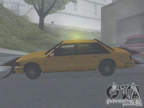 Зомби Такси для GTA San Andreas вид справа